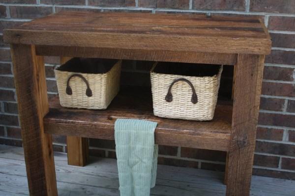 Custom Rustic Barn Wood Vanity Shelf Table Free