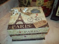 Eiffel Tower Keepsake box storage box wedding box Paris