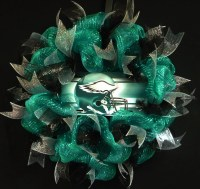 Philadelphia Eagles Wreath Poly Mesh Wreath Eagles Decor