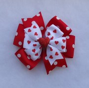 valentine's day hair bow large
