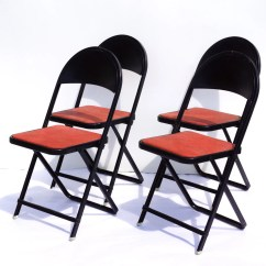 Metal Folding Chairs Wholesale Mickey Mouse Chair Vintage In Black And Red Set Of 4