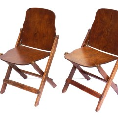 Vintage Wooden Chairs Hanging Chair Indoor Antique Wood Folding With Brass Hardware Set