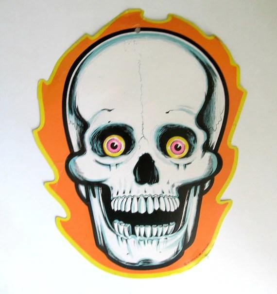 Vintage 1986 Beistle Skeleton Halloween Cardboard Die Cut