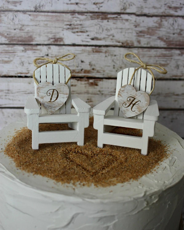 adirondack chair cake topper rocker recliner chairs australia beach wedding by morganthecreator