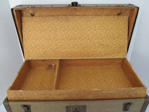 Antique Doll Small Steamer Trunk