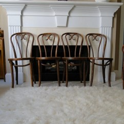 Bentwood Cane Seat Chairs High Office Chair Vintage Cafe Thonet Mid Century Hand Caned