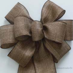 Burlap Bows For Wedding Chairs Black Leather Dining With Legs Rustic Pew Bow Shabby By