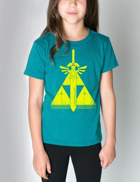 Triforce of Courage Kids Tri-Blend Short Sleeve T  S M L