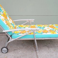 Metal Lounge Chair With Wheels Spindle Back Dining Vintage Mid Century Chaise For The Patio Garden