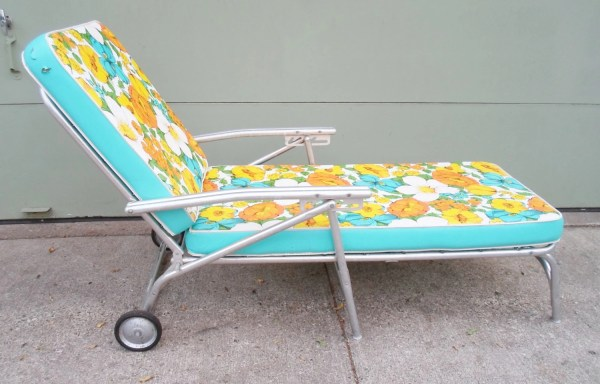 Vintage Mid Century Chaise Lounge Chair Patio Garden