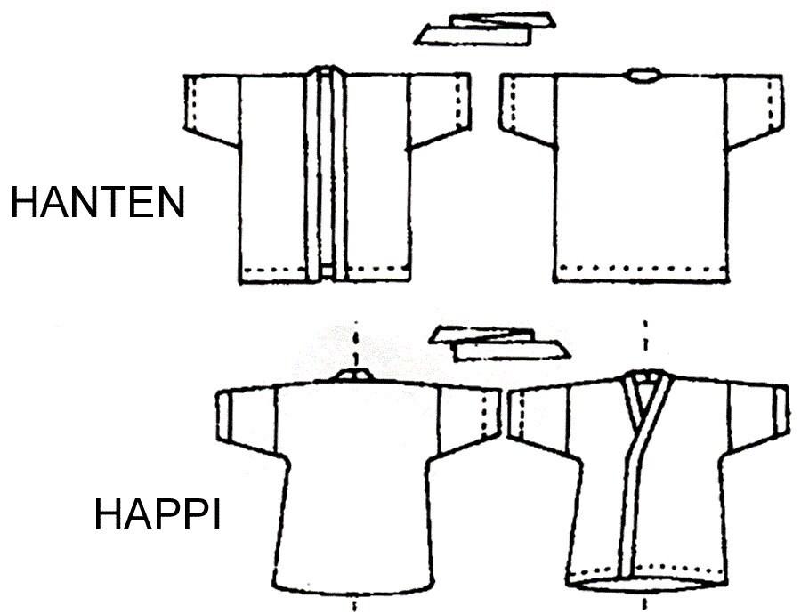Loose-fit Wrap Happi Coat XS-2X and Hanten S-4X Victoria