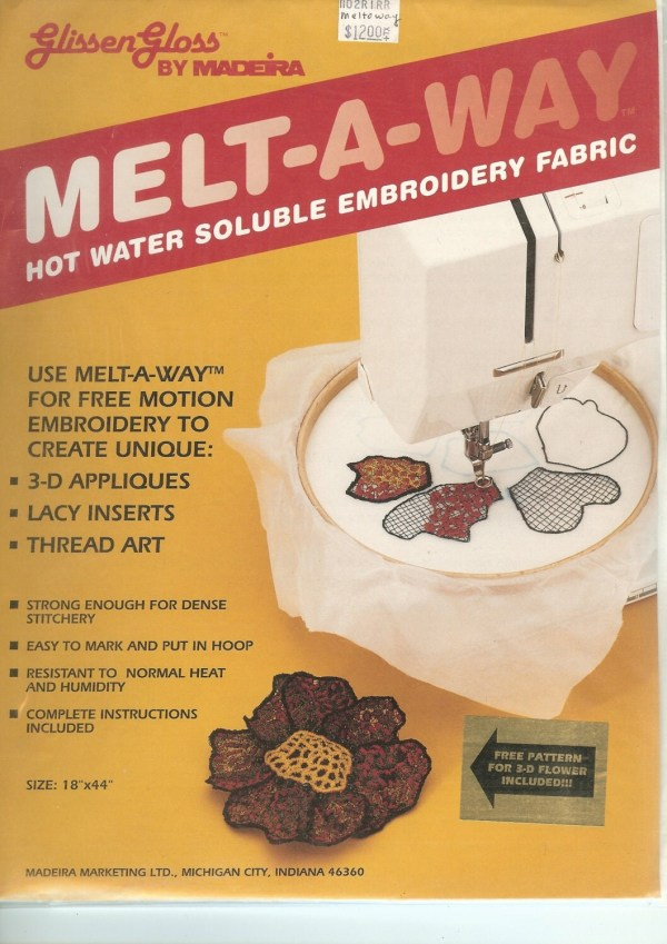 Melt Hot Water Soluble Embroidery Fabric 18x24 Inches