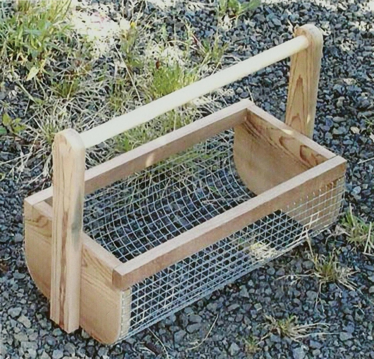Harvest Garden Vegetables and Spray Clean in Wire Mesh Tote - Vegetables, fruit and flowers - UpcycledWood