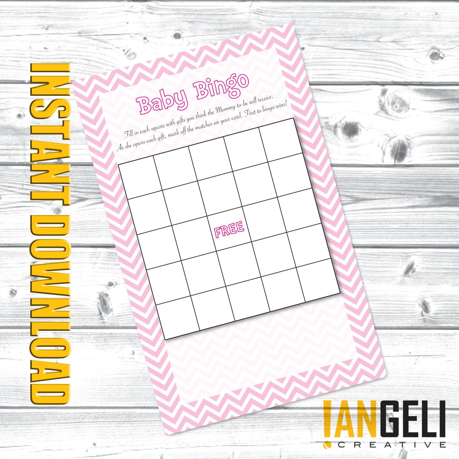Baby Shower Games Baby Bingo Instant Download By Iangeli On Etsy
