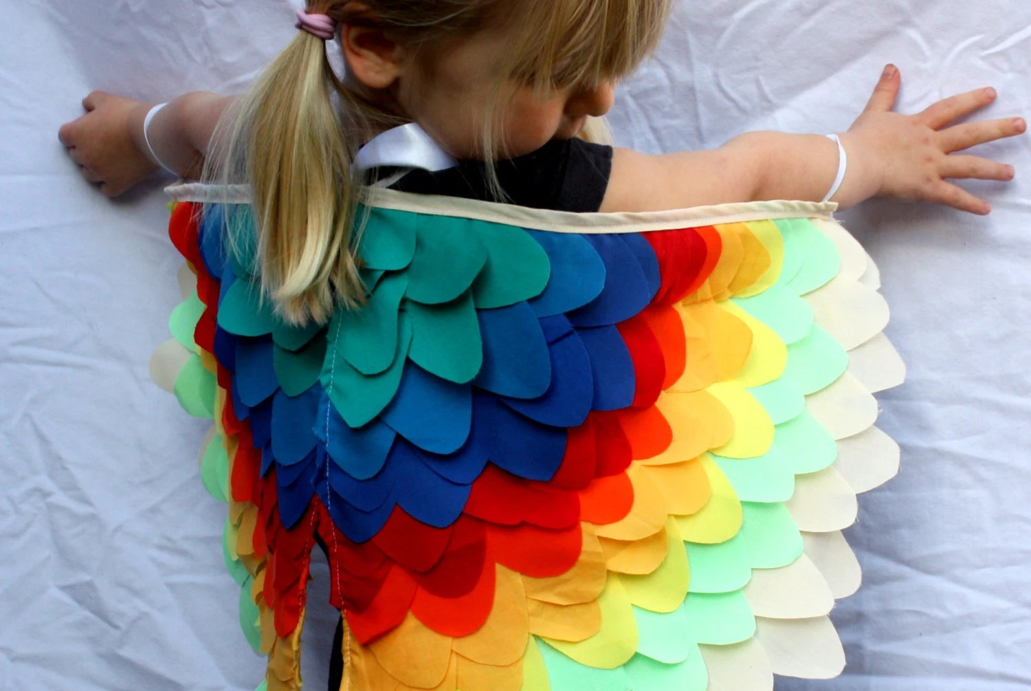 Rainbow Bird Wings - Small - Costume Halloween Girls Boys Dressup
