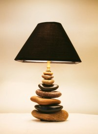 Stacked Rock Lamp from the Shores of the by TheHiddenCardinal