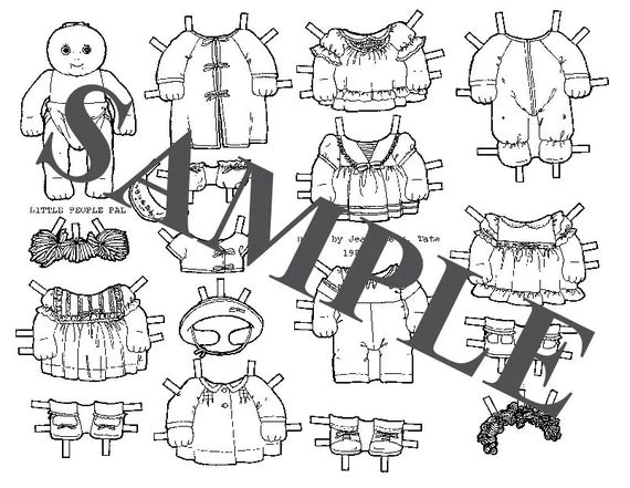 Paper Doll _ Cabbage Patch Baby Doll _ Digital Download