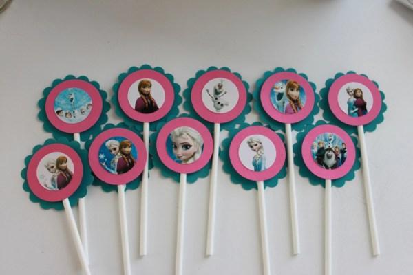 Frozen Disney Cupcake Toppers