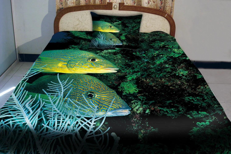 Items similar to Sea fish quilt cover fish sheets sea fish
