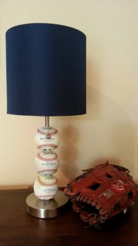Baseball Themed Table Lamp by ChristyVsCreations on Etsy