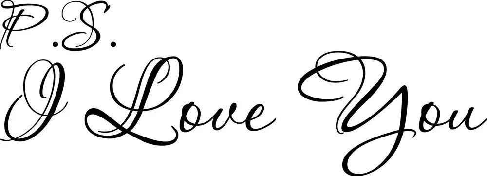 Download P.S. I Love You Cute Cursive vinyl wall decal quote ...