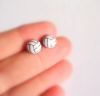 Items similar to Volleyball Stud Earrings on Etsy
