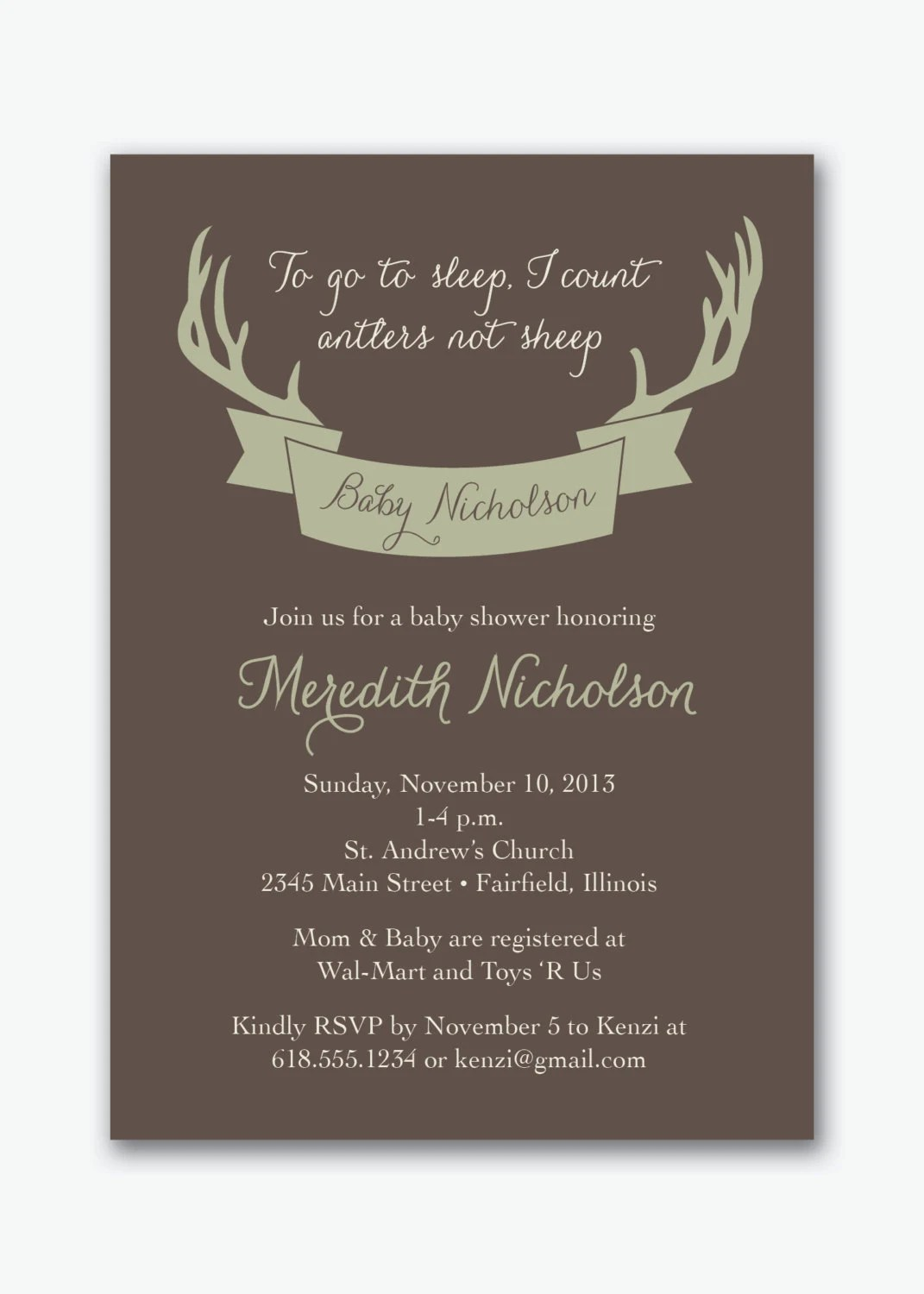 Items similar to deer antler hunting baby shower party
