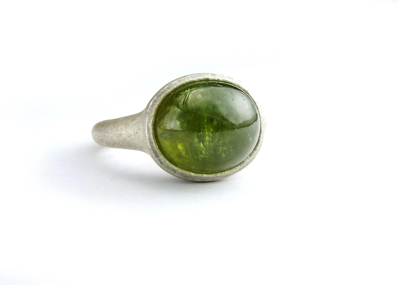 Demantoid Granat Ring grner Edelstein grasgrn Steinring