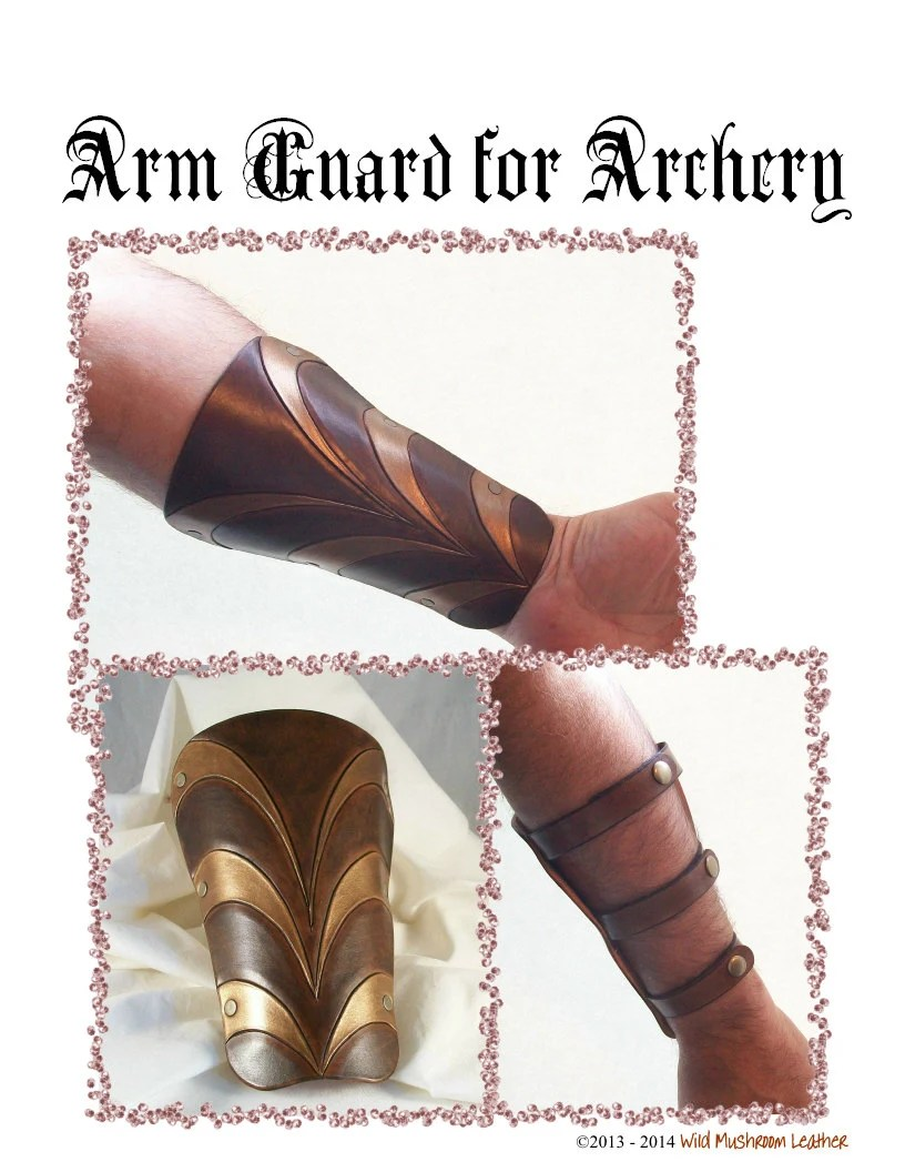 Leather Arm Guard Pattern