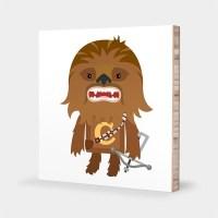 Star Wars nursery art Chewbacca wall art Star Wars kids