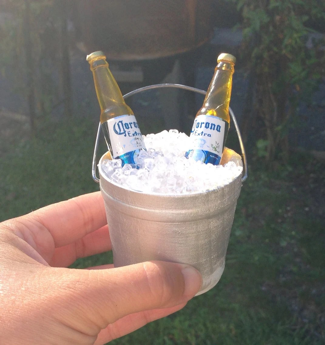 adirondack chair cake topper the wooden painted miniature bucket of beer wedding beach