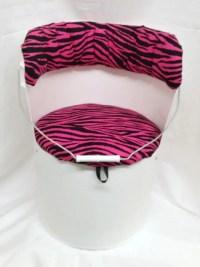 5 Gallon Bucket Chair Pink Zebra by Bucket2Bucket on Etsy