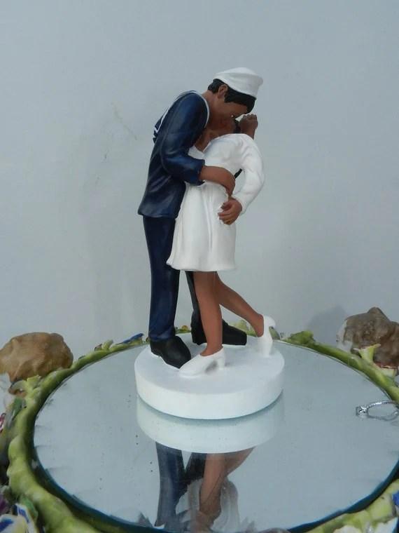 Military USN Navy Sailor Kiss Bride Wedding By CarolinaCarla