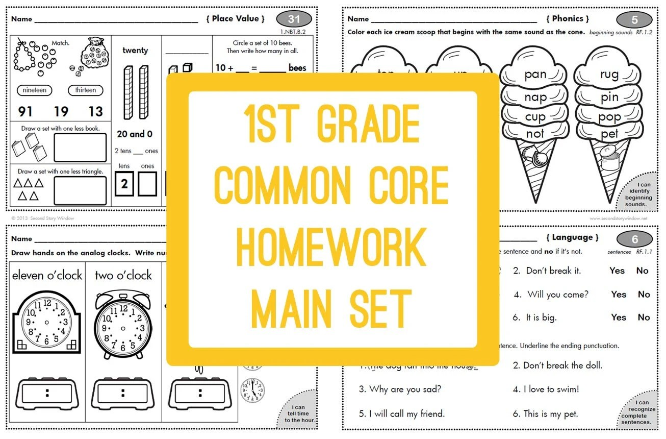 1st Grade Common Core Homework