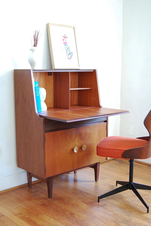 Vintage Secretary Desk Mid Century Modern