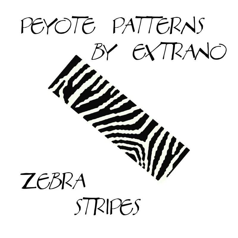 Peyote Bracelet Patterns by Extrano ZEBRA STRIPES 2 colors