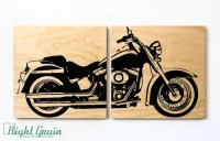 Motorcycle Wall Art - Motorcycle Print on Wood Panels by ...