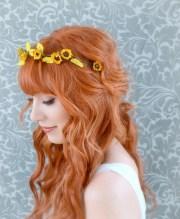 sunflower crown floral headband