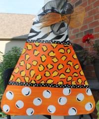 Candy Corn Halloween Door Decoration