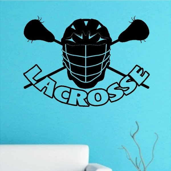 Lacrosse Mask Wall Decal Removable Lacrosse Wall Sticker 22