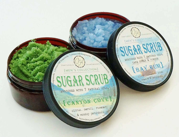 MEN'S Natural Sugar Scrub Choose Your Scent by crimsonhill