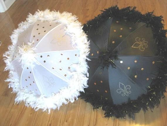 Bride and Groom Wedding Second Line Umbrellas set by
