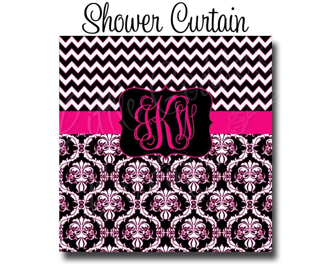 Custom Personalized Monogram Shower Curtain You Choose Size