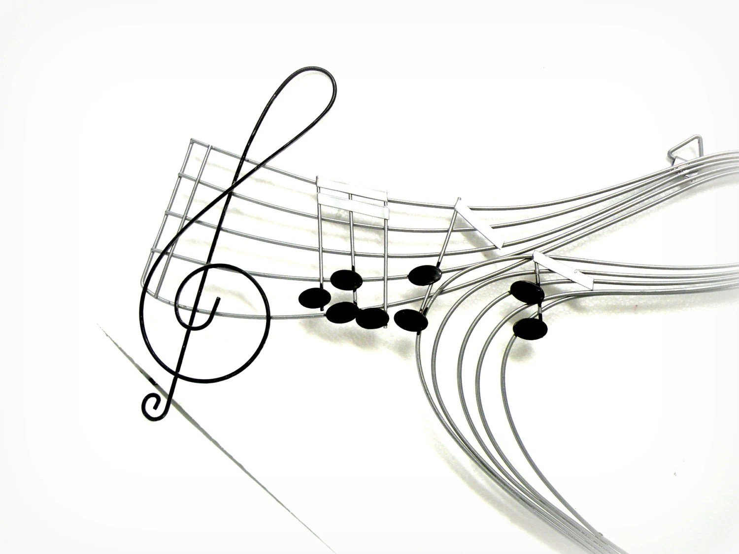 Music Wall Hanging Metal Notes Musical Staff Note Chart Stars