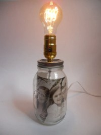 Items similar to Mason Jar Lamp Screw-Top Fill With What ...