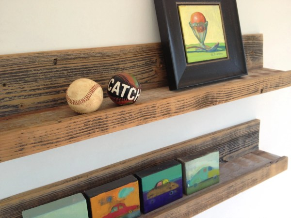Rustic Wood Wall Mounted Shelves