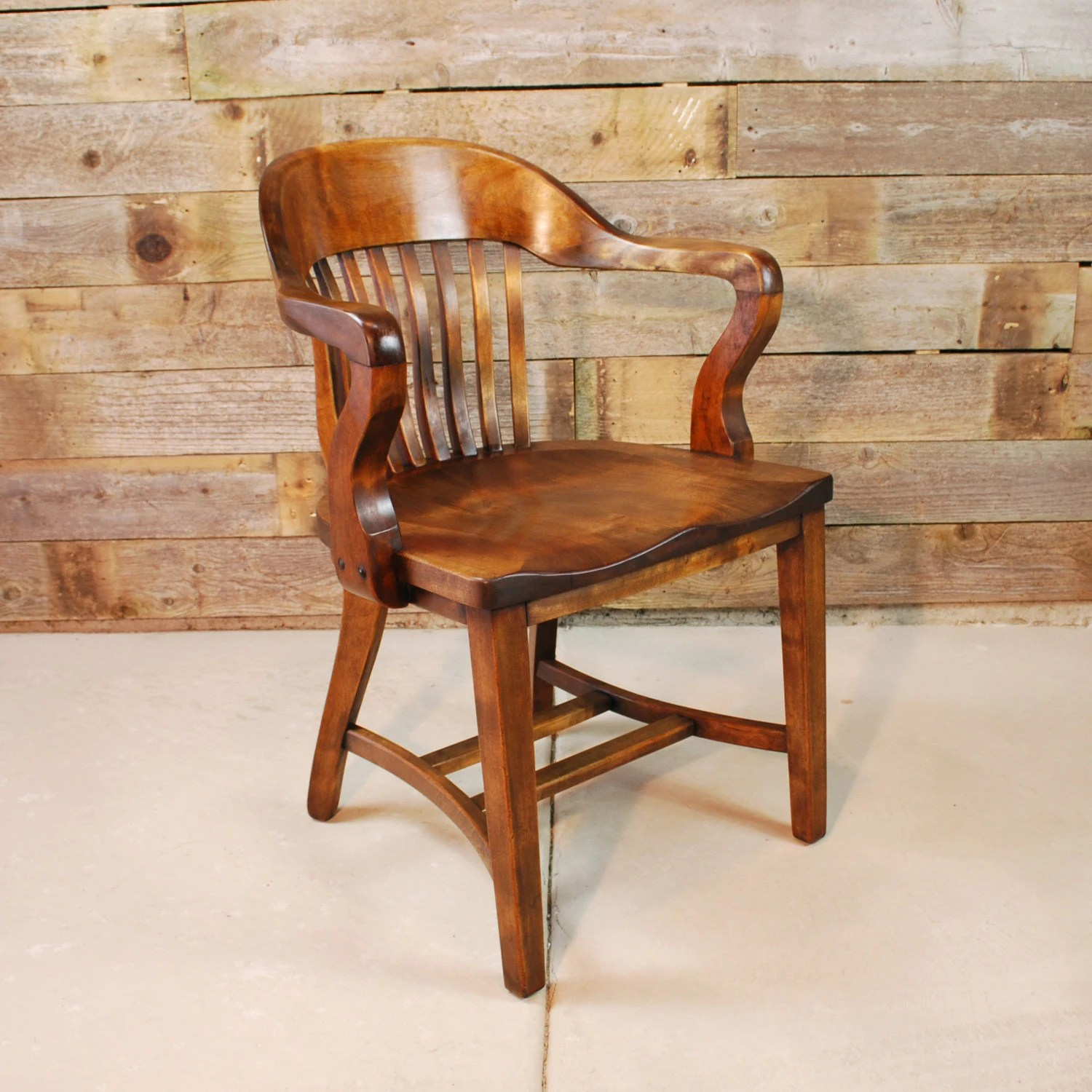 Wood Bankers Chair Solid Walnut Banker 39s Chair