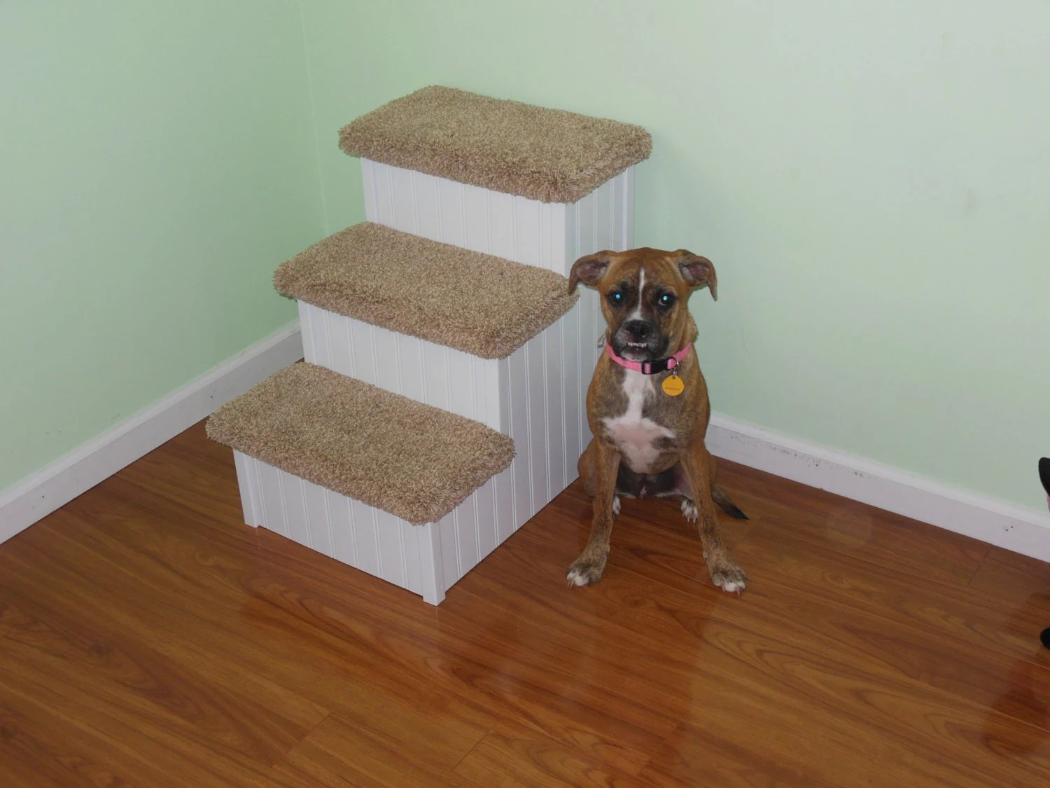dog high chair portable fabric stair 24 pet steps for dogs hampton bay