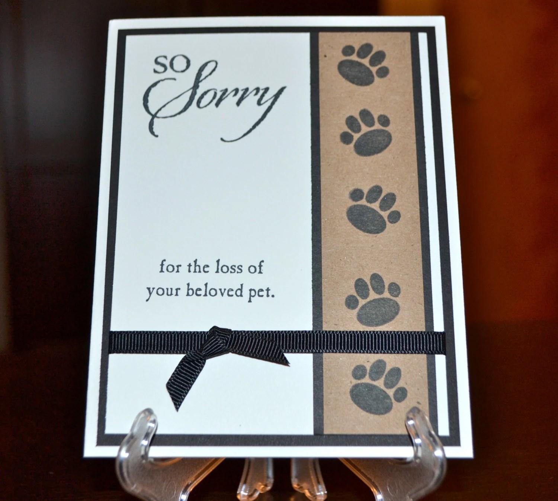 Items Similar To Pet Sympathy Card Loss Of Pet Card Dog