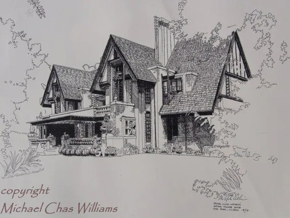 Architecture-Frank Lloyd Wright's Nathan Moore House Fine